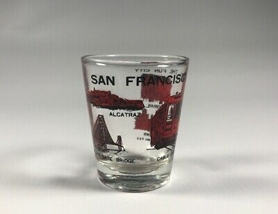 Vintage 1984 San Francisco Shot Glass 2.25""