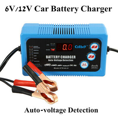 6V 12V Trickle Battery Maintainer Charger Car Van Intelligent Charging Safety UK