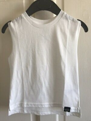 BNWOT River Island Sleeveless White Top. Girls. Age 0 Months - 3 Years