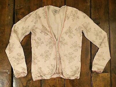 Laura Ashley Vintage Toile De Jouy Ecru And French Grey Cardigan 10