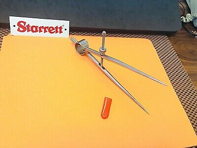 STARRETT No. 277-6  Dividers With Round Legs,  6.0 Inch Capacity. USA Made.