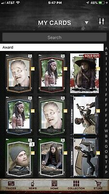 Pick Any 9 For $2.95 Topps Fear Of The Walking Dead Twd Digital 13500+ Cards
