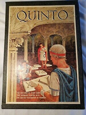 Quinto  Vintage 1964 Bookshelf Board Game  Complete  Super Nice Shape
