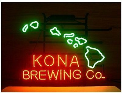 "New Kona Brewing Company Hawaii Man Cave Neon Light Sign 17""x14"""