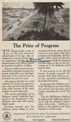 1915 Panama Canal American Telephone Telegraph AT&T Bell Phone vintage print ad