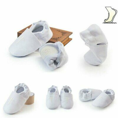 Christening Church White Baby Boy Girl Soft Sole Cross Baptism Modest Cute~Shoes