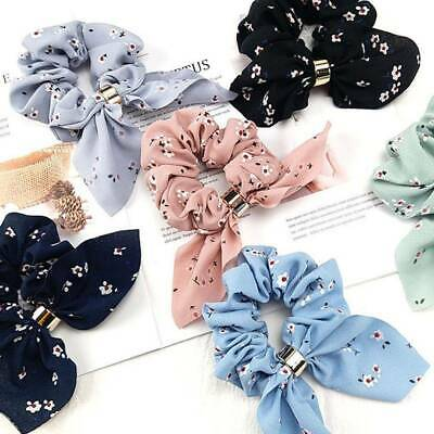 Simple Satin Ribbon Bow Women Hair Ponytail Holder for Hair Accessories