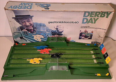 Derby Day Aurora 1971 Horse Race Racing Skill Game Sid James Box Cover