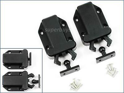 2 Set Black Beetle Touch Latch Push In To Open Drawer Cabinet Door Catch Lock