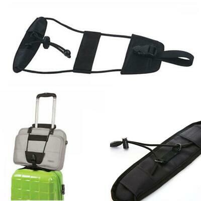 Travel Luggage Suitcase Adjustable Belt Add Bag Strap Carry On Bungee Travel LJ