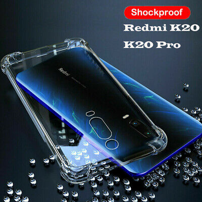 For Xiaomi Mi 9 Redmi K20 Pro Note 7 Shockproof 360° Silicone Clear Case Cover