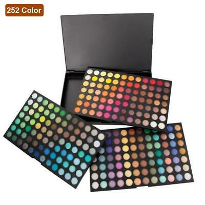 252 Color Eye Shadow Makeup Cosmetic Shimmer Matte Eyeshadow Palette Set LJ