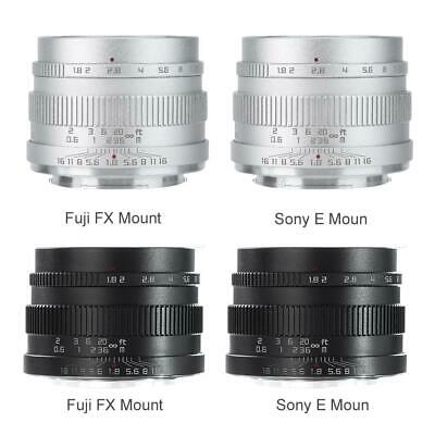 Zonlai 22mm f1.8 Large Aperture APS-C Ultra Wide Angle Lens for Fuji Sony Cam B0