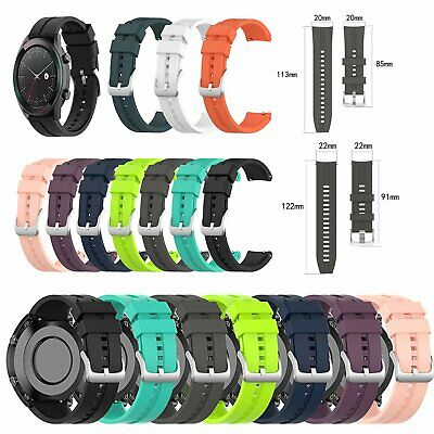 20 / 22mm Soft Silicone Watchband Wrist Strap Replacement for Huawei Watch GT