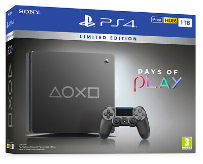 Sony Playstation 4 Ps4 Console 1Tb Days Of Play Limited Edition Hdr Nuovo Italia