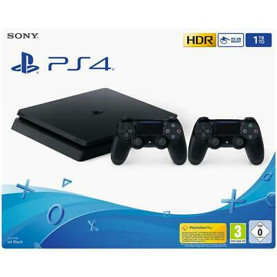 Sony Playstation 4 Ps4 Console 500Gb F Chassis Slim Hdr + 2 Dualshock V2 Eu