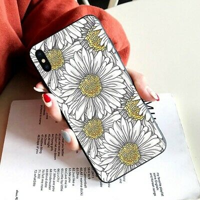 Shockproof Matte Phone Case Floral Hard Cover For Samsung Galaxy J5 S8 S9 iPhone