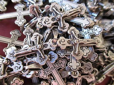 Lot Of 10 Pcs Russian Orthodox Crucifix Crosses, Pendant From Holy Land #E