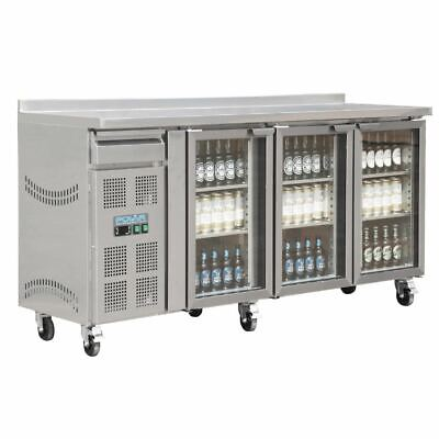 Commercial Polar 3 Door Premium Bar Fridge Hinged Tropical