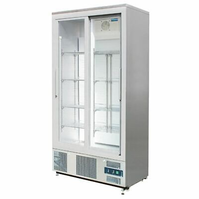 Polar Commercial Fridge Double Sliding Door Upright Back Bar Cooler Sliding