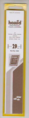 Hawid Black Stamp Mount Strips 29mm x 210mm Part pack of 19/25 Mounts