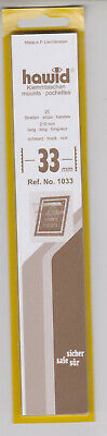 Hawid Black Stamp Mount Strips 33mm x 210mm Full pack of 25 Mounts + odds