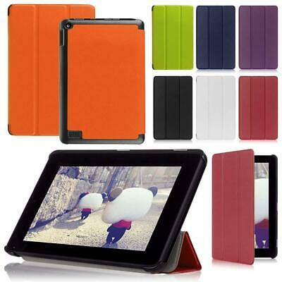 """Ultra Slim Smart PU Leather Soft Case Cover For Amazon Kindle Fire HD 7"""" 2016 LJ"""