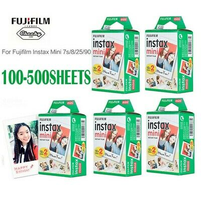 Fujifilm Instax 100-500 Sheets Photo Paper Film Instant Print for Mini 8 9 25 90