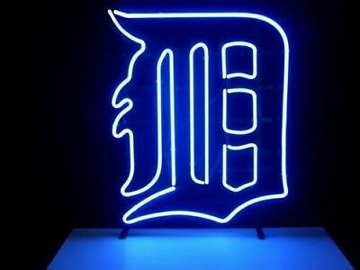 """New Detroit Tigers Neon Light Sign 24""""x20"""" Beer Bar Real Glass Lamp Poster"""