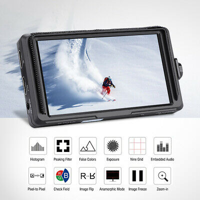 """Feelword F6S HDMI 5"""" IPS Screen 4K FHD On-Camera Field Monitor for DSLR Cameras"""