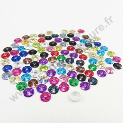 Sequin strass thermocollant rond hotfix MULTICOLORE HOLOGRAMME, 3mm, 4mm, 5mm