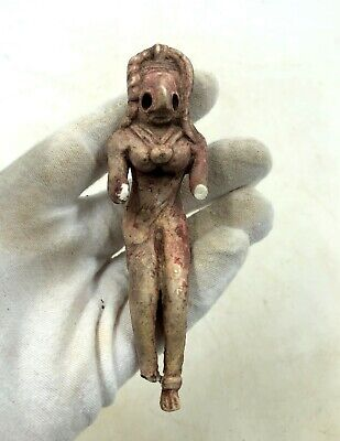Superb Indus Valley Ca.2500 Bc Terracotta Standing Female Fertility Figurine R15