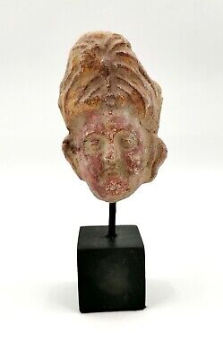 Unusual Rare Greek Hellenistic Ca.400 Bc Terracotta Head - R190
