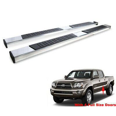 78in Running Boards For 05-19 Tacoma Double/Crew Cab Side Step Nerf Bars 2pcs