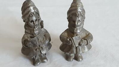 TWO VINTAGE PEWTER figurines from the Daalderop factory in