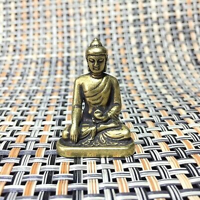 Chinese Rare Collectible Old Handwork Brass Antique Medicine Buddha Statue