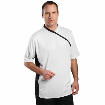 Le Chef Thermocool Prep Shirt White with Black Trim S