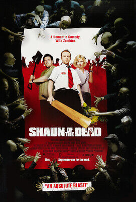 SHAUN OF THE DEAD MOVIE POSTER 2 Sided ORIGINAL FINAL VF1 27x40 SIMON PEGG