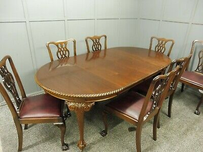 Edwardian Extending Dining Table And 7 Matching Chairs