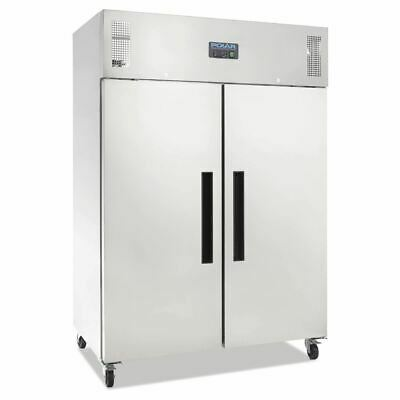 Polar Commercial Fridge 2 Door Upright 1200 Ltr Stainless Steel Hinged Tropical