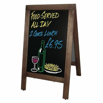 Olympia Pavement Chalkboard A-Frame and Double Sided Made of Melamine 700x1200mm