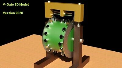 Magnetic Motor V-Gate Free Energy Generator 3D Model STL STEP DWG | 3D Print
