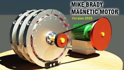 Magnetic Motor Mike Brady Free Energy Generator 3D Model STL STEP DWG | 3D Print