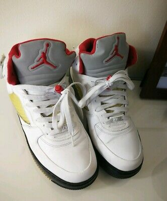 pas mal a3eae 5a2c4 NIKE AIR JORDAN Af1 White Leather High Sneakers UK 8 ...