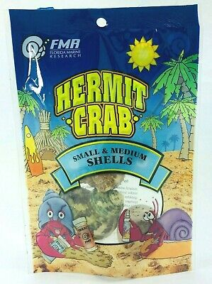 FMR Hermit Crab Natural Shells Small & Medium Size 3 Pack *CHOOSE SHELLS STYLE