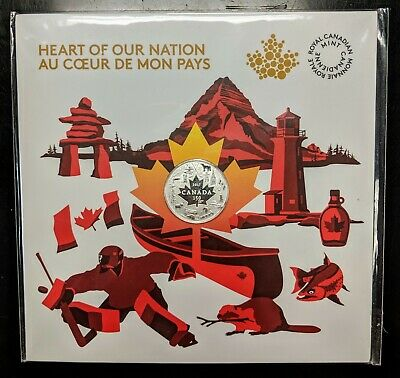2017 Canada Silver $3 Heart of Our Nation 150 Years Sealed in Mint Pack BU