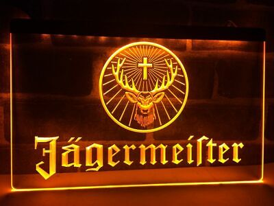 Jagermeister Neon Led Light Sign Bub Bar Club Home Night Decor Sport Gift Sale