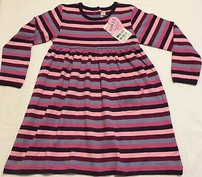 JOJO MAMAN BÉBÉ / Girls Classic Breton Stripe Dress / Long Sleeve Sz 4-5Y / NWT