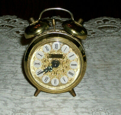 Vintage Wind Up Table Alarm Clock Jerger Made In West Germany