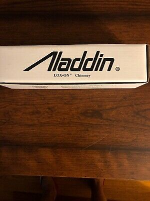 ALADDIN LAMP PART # R103 LOX-ON CHIMNEY NEW REPLACEMENT w/ FIRED-ON ALADDIN LOGO